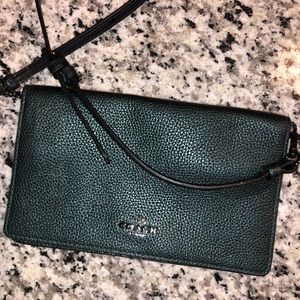 Coach Hayden Foldover Crossbody Clutch in green!